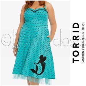 Torrid Disney Ariel The Little Mermaid Pinup Dress
